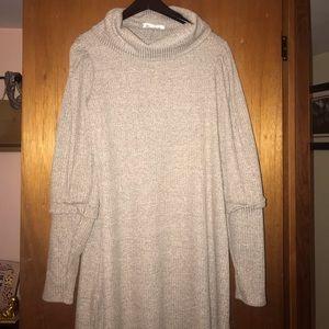 Cowl-neck sweater dress. Never worn.